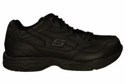 SKECHERS Felton wide black Men's Slip Resistant Work Shoes 07.0