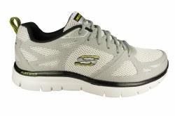 SKECHERS Flex Advantage-First Team light grey/black Mens Training Shoes 08.5