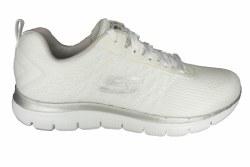SKECHERS Flex Appeal 2.0-Break Free white/silver Womens Training Shoes 07.0