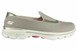 SKECHERS Go Walk 3-Spring Lite grey Womens Slip-On Walking Shoes 07.0