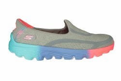 SKECHERS GoWalk 2-Sweet Socks grey/multi Little Kids Casual Slip-On Shoes 2.0