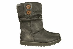 SKECHERS Keepsakes-Leatheresque charcoal Womens Boots 07.0