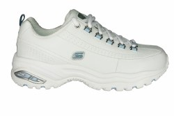 SKECHERS Premium-Seeing Double white/blue Womens Training Shoes 07.0