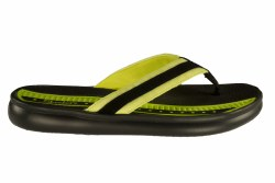 SKECHERS Cali Rumblets-Beauty Closet  black/lime Womens Thong Sandals 05