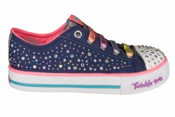 SKECHERS S Lights-Shuffles-Twirly Toes navy/multi Little Kids Lifestyle Shoes 1.0