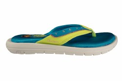 SKECHERS Twinkle Toes Sole Searchers-Sunscapes blue/lime Little Kids Thong Sandals 013