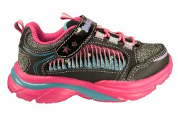 SKECHERS Sparkle Lites Lite Kicks2-Twisty Kicks black/multi Toddlers Athletic Running Shoes 05