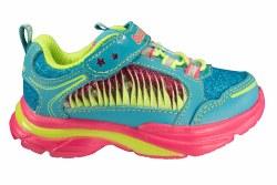 SKECHERS Sparkle Lites Lite Kicks 2-Twisty Kicks turquoise/multi Toddlers Athletic Running Shoes 05