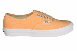 VANS Authentic Slim (chambray) coral/true white Unisex Skate Shoes 05.0
