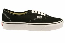 VANS Authentic black Unisex Skate Shoes 03.5