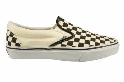 VANS Classic Slip-On black/white/checkerborad Unisex Skate Shoes 09.0