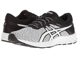 Asics FuzeX Lyte 2 White Black Silver Versitile proformance meets inspiring design. Seamless mesh upper wraps your foot in friction-free support and easy comfort07.0