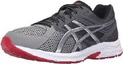 Asics Gel Contend 3 4E Wide Titanium/Silver/Red Mens Running Shoes T5G1Q-799510.0
