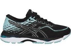 Asics Gel Cumulus 19 Black Porcelin/Blue/White Womens Running Shoes T7B8N-9014 . 06.5