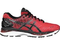 Asics Gel Nimbus 18 Racing Red Mens Running Shoes T600N-2390 11.0