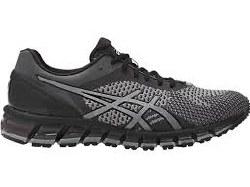 Asics-Gel Quantum 360 Knit Mid Grey/Carbon Black Mens Running Shoes T728N-9697 11.5