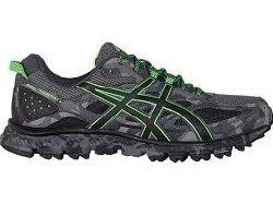 Asics Gel Scram 3 Mens Trail Running Shoes Carbon/Black/Gecko Green T6K2N-9790 10.5