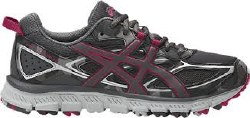 Asics Gel Scram 3 Carbon/Carbon/Cosmos Pink Womens Trail Running Shoes T6KTN-9797 08.5