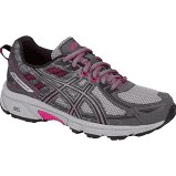 Asics Gel Venture 6 Carbon Black Pink Peacock Wide width trail running shoes 07.0