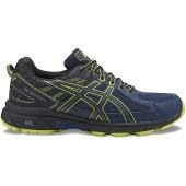 Asics Gel Venture 6 Indigo Blue/Electric Green Mens running Shoes T7G1N-4990 09.0