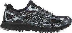 Asics Gel Scram 4 Black/Black/Glacier Grey Camo Mens Trail Running Shoes T6K2N-9090 . 10.5