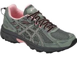 Asics Gel Venture 6 Slate Grey Frosted Rose Womens Trail Ruinning Shoes  07.