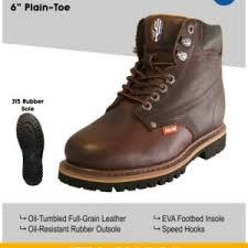 Cactus Boot 627 Dark Brown oil grain tumbled leather eva footbed insole speed hooks and oil resistant outsoles classic style08.0