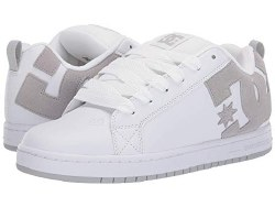 DC Court Graffik White Grey Grey Classic DC style and comfort08.5