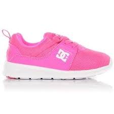 DC Heathrow Pink Toddlers DC Skate Shoes ADOS700025-PNK. 05.0