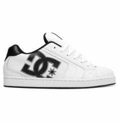 DC Net Skateboard Shoes - White/Battle Ship/White (HBW)09.0