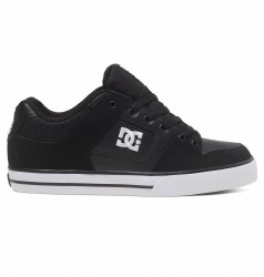 DC Pure Black Black white dc skate shoes 300660 BLW 09.0