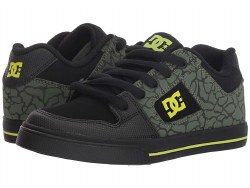 DC Pure SE Black Lime Foam Padded Tongue Classic DC style For Kids  Iconic Style Cool 013.