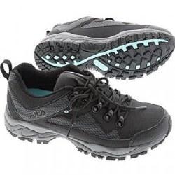 Fila Switchback 2 Black Grey Mint Womens waterproof trail shoes06.0
