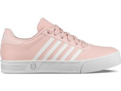 Kswiss Court Lite Stripes White/Peachy lite weight court shoe07.0