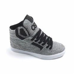 Osiris Clone Grey Tweed Hi Top Skate Shoes Iconic Osiris Style 08.0