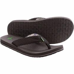 Sanuk Burm Brown Flip Flop . Name Brands , Low Prices , Quality Shoes. Classic Flip Flops From Sanuk07.0