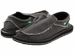 Sanuk Chiba Black . Name Brands , Low Prices , Quality Shoes . Classic sidewalk surfer slip on from Sanuk08.0