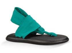 Sanuk Yoga Sling 2 Teal  Comfort and style perfect summer wear 10.0