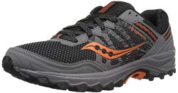 Saucony Excursion TR 12 Grey Orange rugged durable trail tested outsole from path to park its great for hiking  08.0