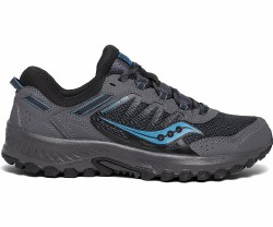 Saucony Excursion Trail 13 Charcoal/Blue Durable, supportive, cushioning, rugged traction08.0