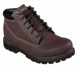 Skechers Amado Chocoalte Boot Mens Work Smooth leather-textured synthetic upper 65501EWW08.0