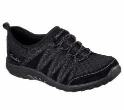 Skechers Big Adventure Black Laced Shoe Slip On Casual Womens Shoe 49429/BLK 07.0