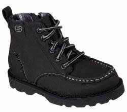Skechers Bowland Timberpine Black Big Kids Boots Side Zip 93636L/BLK . 5.0