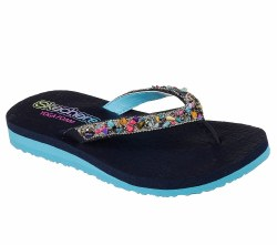 Skechers Break Water Girls Jeweled Flip Flops011.