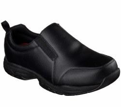 Skechers Felton Camak Black Slip Resistent Slip On Work Shoe 77073/BLK. 07.5