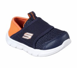 Sporty style combines with easy wearing comfort in the SKECHERS Comfy Flex shoe. Soft mesh fabric, stretch fabric and synthetic upper in a slip on sporty training sneaker. 05.0