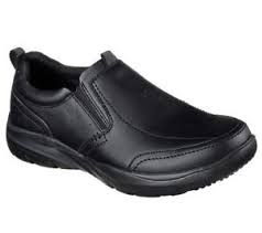 Skechers Convern Ember Slip Resistent Mens Work Shoe Black 65243/BLK . 08.0