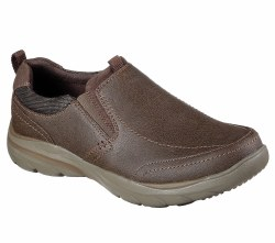 Skechers Coven Ember Brown Mens Casual  Dress Slip On 65243/Brn. 08.0