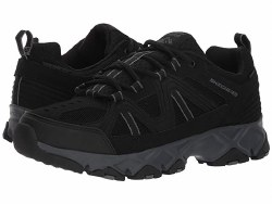 Skechers Crossbar hiking styled water repellent all terrain sneaker, flexible shock absorbing midsole and high traction rubber trail outsole07.5