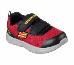 Little guys will love the sporty flexible style and extra room of the SKECHERS Comfy Flex - Double Sprint shoe. Sporty mesh fabric and synthetic upper in a two strap front sporty training sneaker with roomy toe area.. 05.0